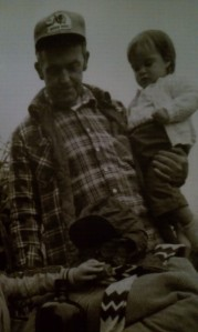 Me (approx 2 years old) and my grandfather, Papa Virg.